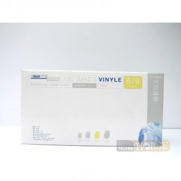 Gants Vinyles à Usage Unique - Ambidextres Taille 8/9